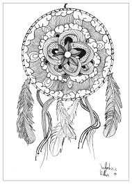 Beautiful Dreamcatcher In A Mandala Coloring Page