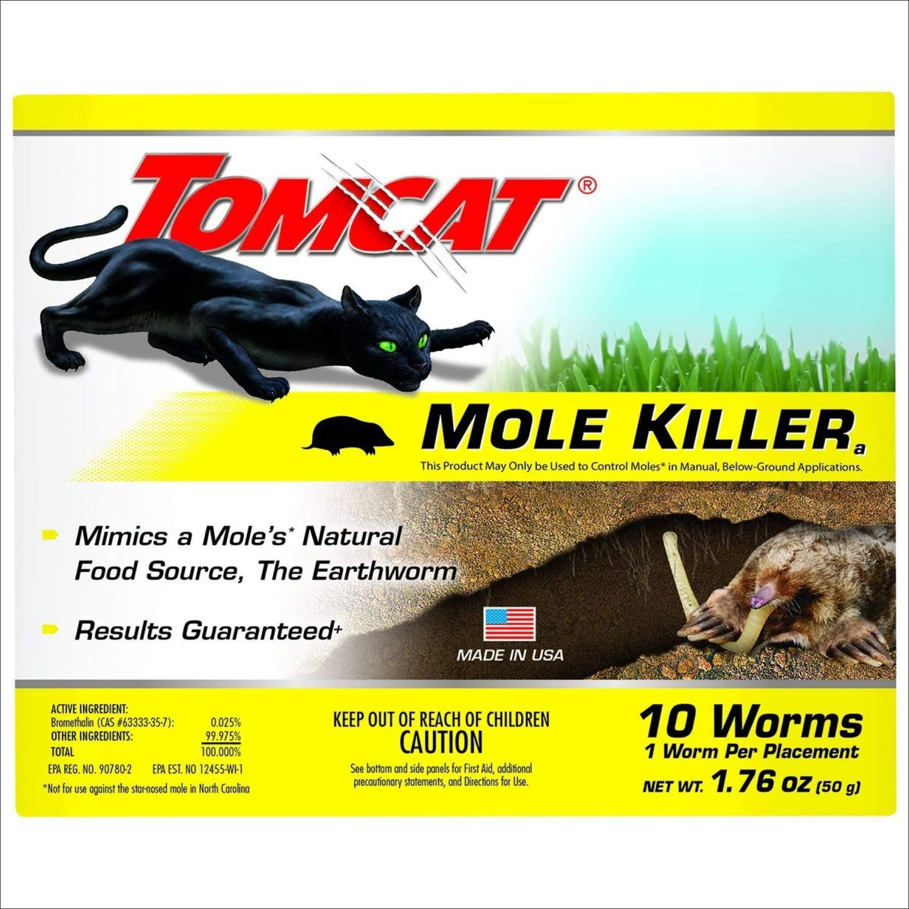 Tomcat Worm Bait Mole Killer - 10 Pack