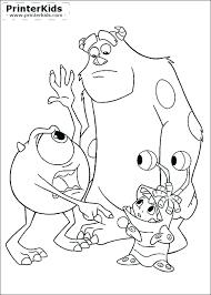 Monsters Inc Coloring Pages Disney Pixar Pdf