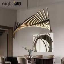 nordic wohnzimmer led kronleuchter beleuchtung fishbone
