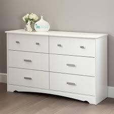 Sauder Harbor View Dresser Antiqued White by White Dressers