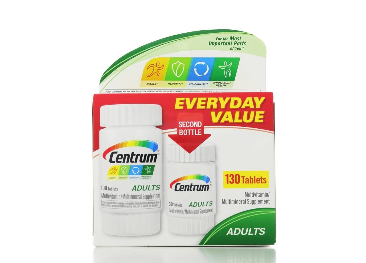 Centrum Adults Multivitamin Supplement Tablets - x130