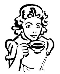 Mother Taking A Break Drinking Coffee