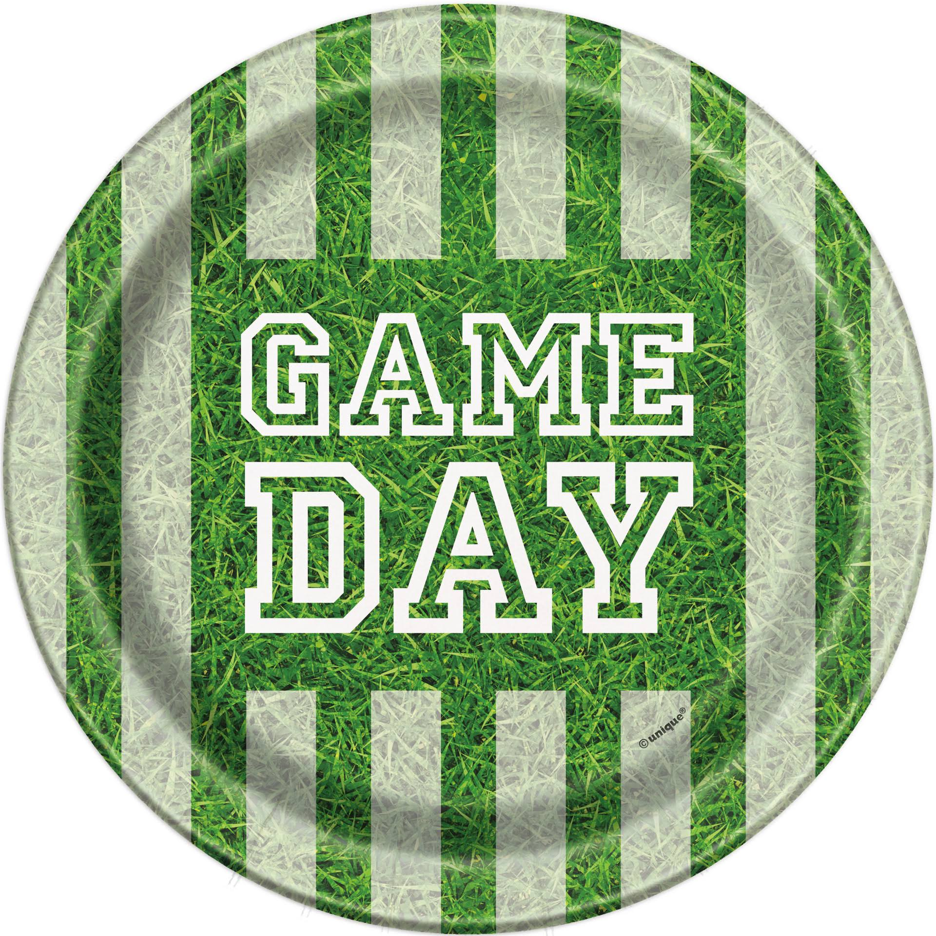 Unique Game Day Football Paper Plates, 18cm , 8ct