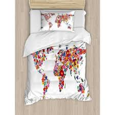 World Map Bedding Sets