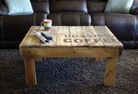 Coffee Table Made Out Of Pallets Unique For From Wood Craftfoxes