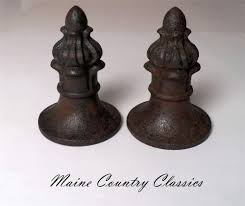 Halloween Cemetery Fence Finials by Pair Of Antique Cast Iron Fence Post Finials Toppers