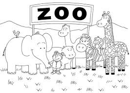 Printable Zoo Coloring Pages