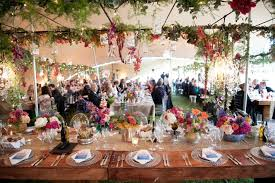 Rustic Wedding Tent Decoration
