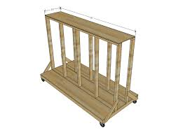 ana white ultimate lumber and plywood storage cart diy projects