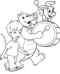 Enrique Ord Cassie Marching In A Parade Coloring Page