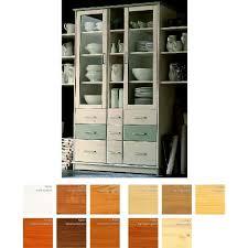 vitrinenschrank 113x204x42cm ultima 2 glastüren 9 schubladen 4 fächer kiefer massiv 2farbig grau lackiert casade mobila