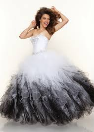 new 2013 paparazzi by mori lee 91001 white and black tulle ball