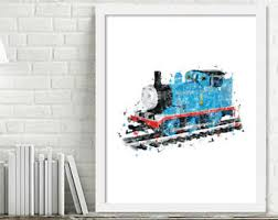 Thomas The Train Bedroom Decor Canada by Train Wall Art Etsy
