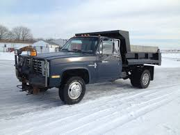 100 1988 Chevy Truck For Sale Chevy K30 4x4 1 Ton Dump W Plow 55000 Miles NO RESERVE