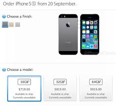Unlocked iPhone 5s Prices in Canada Start at $719 for 16GB