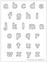 Lower Case Letters Coloring Page