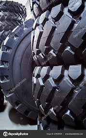 100 Tires For Trucks Closeup Big Large Heavy Duty Vehicles Stock Photo