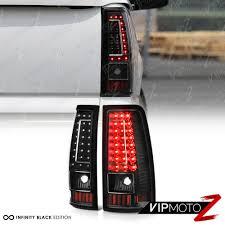 2003-2006 Chevy Silverado 1500 2500 3500 C-SHAPE Black LED Rear Tail ...
