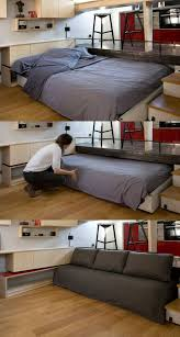 Another way to hide the bed in a Tiny House put it in a drawer