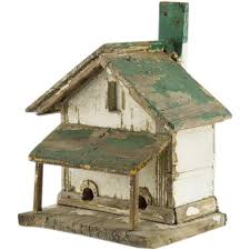 Rustic Painted Bird House