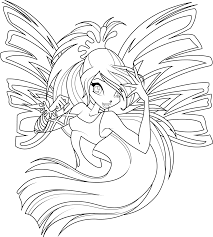 Winx Club Coloring Pages Are Pictures From Popular Italian Cartoon Serial About Blum And Her Close Friends Fairies
