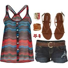 Love It Just Need Longer Shorts Cute Summer Outfit D But Is Almost Over This Would Be For School They Dont Allow Shorty And