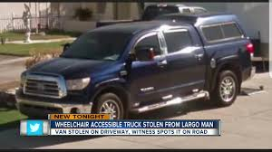 Largo Man Needs Help Tracking Down Wheelchair-accessible Truck ... Elk Point Mounties Say Truck On Fire Stolen From Local Company My California Man Arrested For Taking Joy Ride Stolen Truck Found Burned Out At Pawnee Lake 1041 The Blaze Lawn Equipment Worth More Than 6k In Sw Houston Custom Paraplegic Has Been Found Chase Volving Ends Atascosa County 10 Married Couple And Mother Driving Dump Kforcom Following Hit Run Crash Authorities Searching 18wheeler Harris Abc13com Owners Reunite With Christmas Eve Surveillance Footage Shows Pickup Crash Into City Councilors
