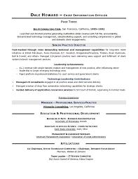 CIO Sample Resume By Executive Writer