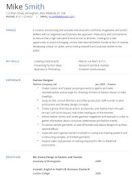 Fashion Designer CV Example And Template