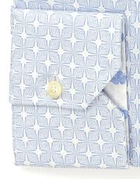 light blue patterned dress shirt extra slim body with