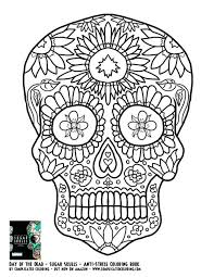 Skull Candy Printable Coloring Pages Free Sugar For Adults Roses Print And Rose Page