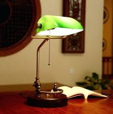 Bankers Lamp Green Glass Shade by Desk Bankers Lamp Uk New Zealand Pertaining To Contemporary