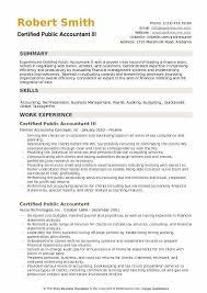 Certified Public Accountant III Resume Template