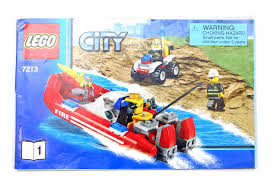 Lego City Fire Truck And Boat Instructions