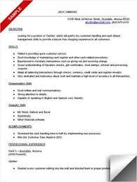 Sample Resume Letter For Cashier Career Enter Example