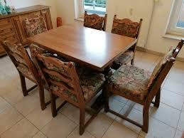 esszimmer tisch ausziehbar und 6 stühle in eiche rustikal
