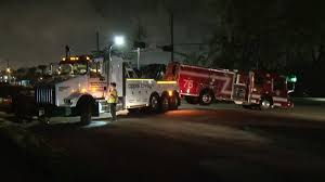 100 Fire Truck Driver 2 KPRC Houston On Twitter Crashes Into Tow Truck Hauling