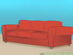 4 Ways to Clean and Maintain a Suede Couch wikiHow