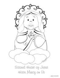 Coloring Page Catholic Sacred Heart Of Jesus One My Favorite Prayers