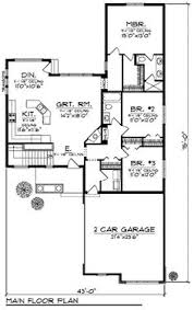 Craftsman Style Floor Plans Bungalow by Bungalow Style House Plan 2 Beds 2 5 Baths 1745 Sq Ft Plan 50