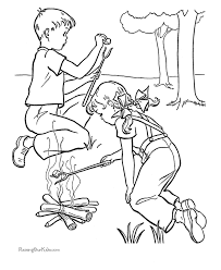 Free Printable Camping Kids Coloring Pages Getcoloringpages Com