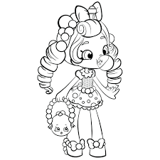 Full Image For Coloring Pages Of Flowers And Roses Http Coloringsco Shopkins Large