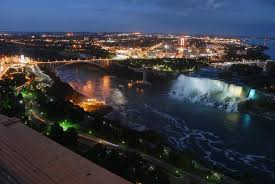 night view looking at us side of falls picture of skylon tower