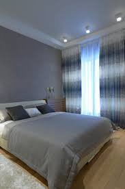 Grey Wood Floors Bedroom Modern With Black And