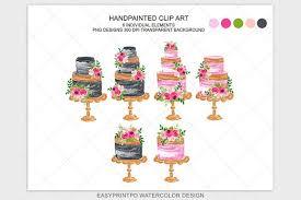 Wedding Cake Clipart Bakery Logo Illustrations