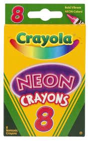 amazon com crayola neon crayons 8 count toys games