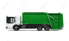 Garbage Truck Isolated Stock Photo, Picture And Royalty Free Image ...