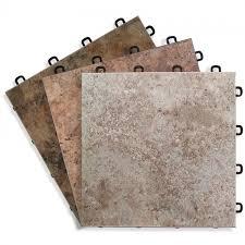 Sandstone with Grout Edge Look Interlocking Basement Floor Tile