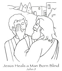 Free Coloring Pages Printable Jesus Heals The Blind Man And Of